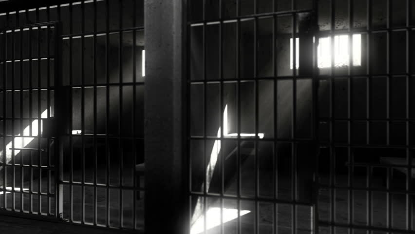 Prison cells. Black white verison. Looped animation