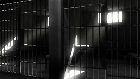 Prison cells. Black white verison. Looped animation