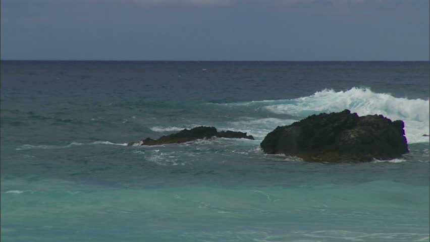 Hawaiian coast with lava rocky outcroppings | Shutterstock HD Video #1825835