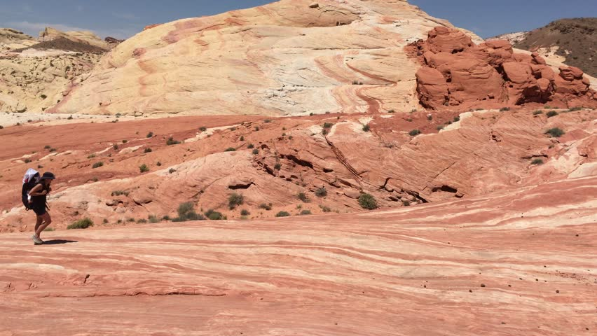 track to fire wave, valley of fire state park, nevada