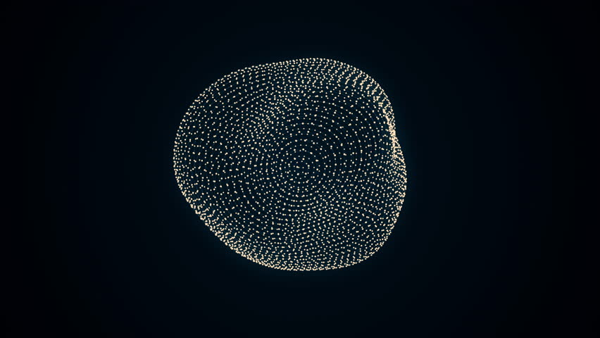 metamorphose of amorphous shape from dots and lines, abstract animation of future shape 4K #18294355