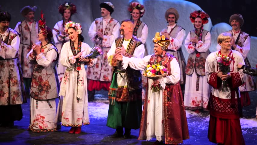 Moscow Russia January 20 2016 First Russian Folk Musical The