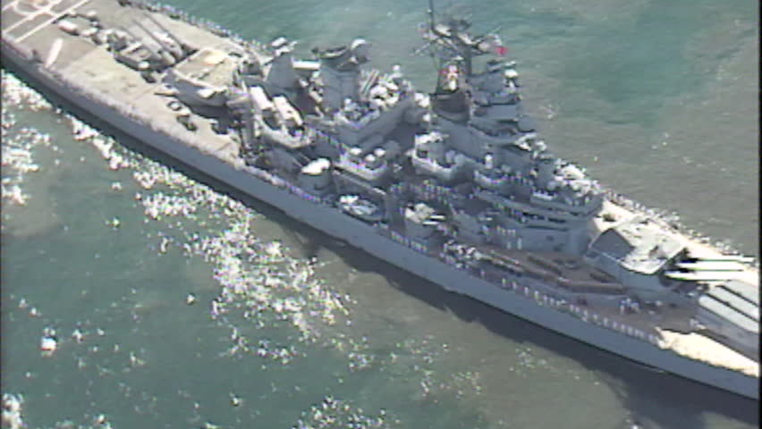 Archive 1991 Uss Missouri Leaving Stock Footage Video (100% Royalty-free)  18329575 | Shutterstock