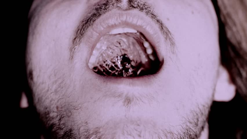 Water in Slow motion Look the water inside a human mouth. Recorded with a Phantom Miro lc320S at 1.540FPS.   #18406345