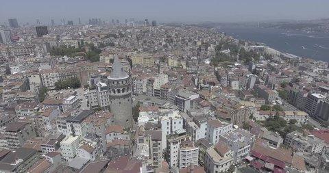 GalataTower, Street,aerial,aerial city,aerial clouds,aerial house,aerial view,aerial landscape,aerial map,aerial road, Istanbul City 4K Videos