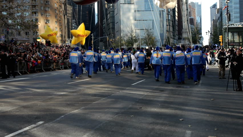 NEW YORK CITY, NY - NOVEMBER 24: Sonic Balloon and tilt from street to sky in the Macy's 85th Annual Thanksgiving Day Parade on November 24, 2011 in New York City, New York.