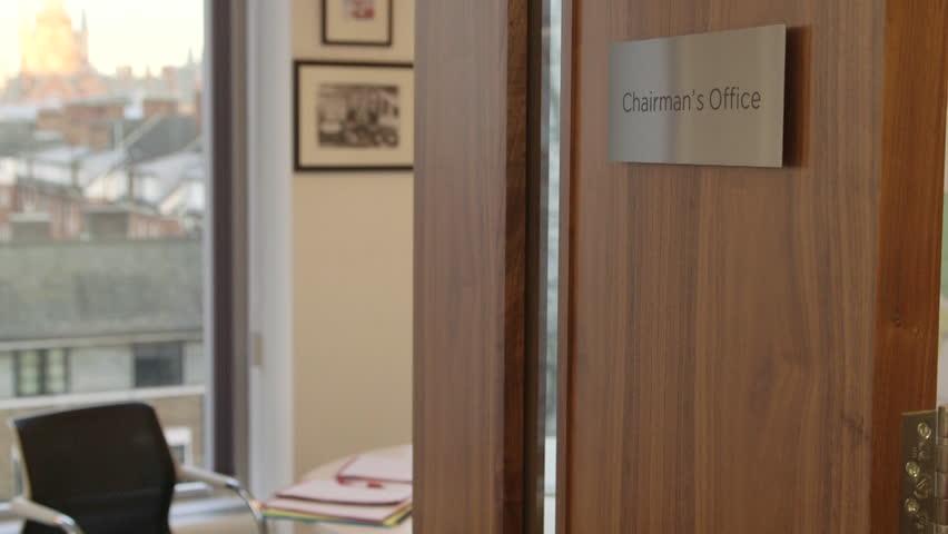 Header of chairman