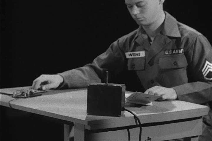 The language of the Morse Code and how it originated in 1942, illustrated through rhythm and sounds, pointed out by a US Army code academic. (1940s)