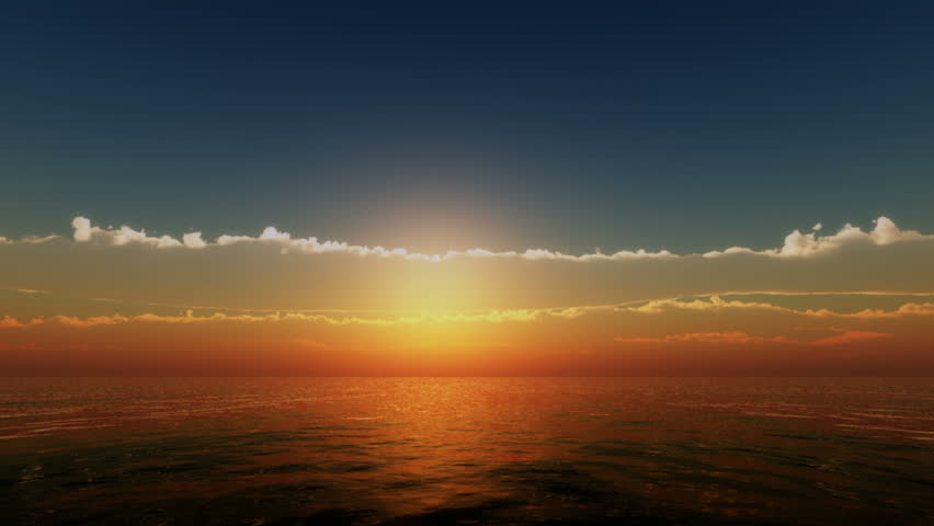 sunset over ocean #18548360