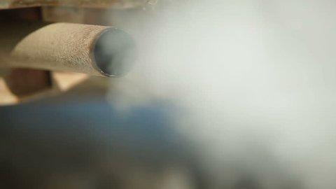 Exhaust Pipe Smoking
