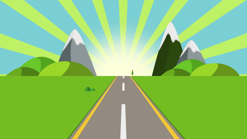 ride through a cartoon highway stock footage video 100 royalty rh shutterstock com cartoon road trip cartoon roadkill