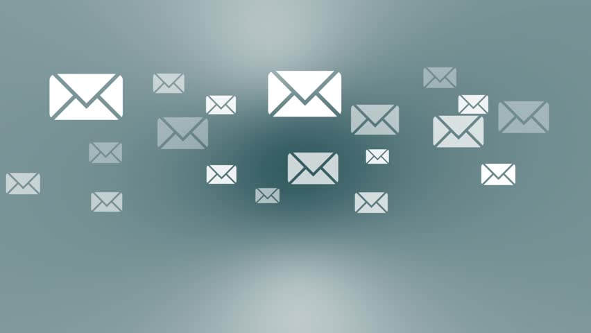 Sending Mails Background (Loop). Letters Flying Through Space ...