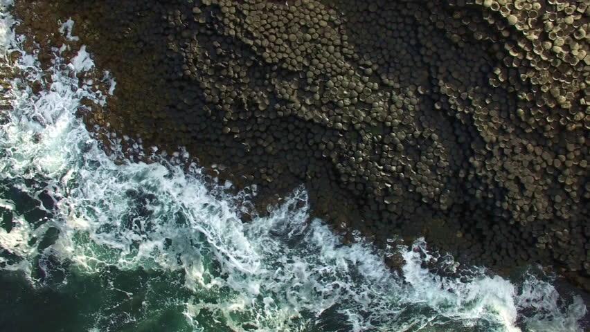 4k Aerial Shot of Giant's Causeway, Northern Ireland   Shutterstock HD Video #18873665