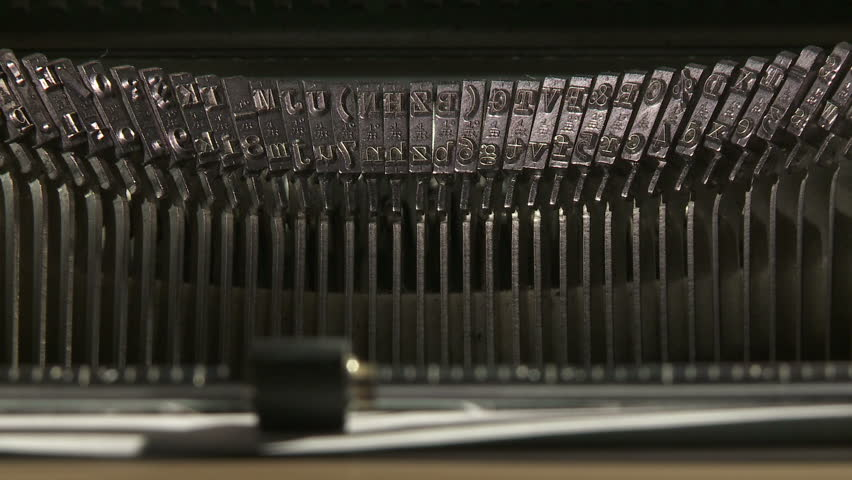 Close up time lapse of typing with 1960's vintage typewriter
