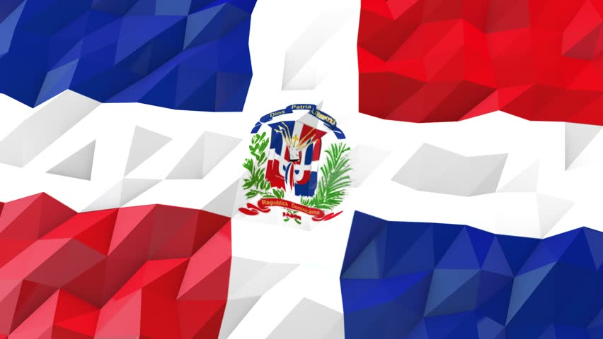 Flag Of Dominican Republic Wallpaper Ilration National Symbol Low Polygonal Glossy Origami Style