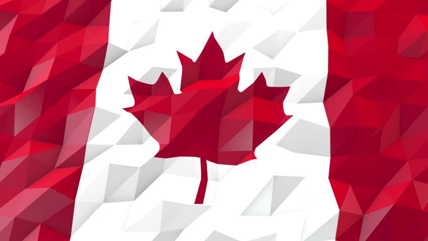 Flag Of Canada 3d Wallpaper Video De Stock Totalmente Libre De Regalías 18972265 Shutterstock