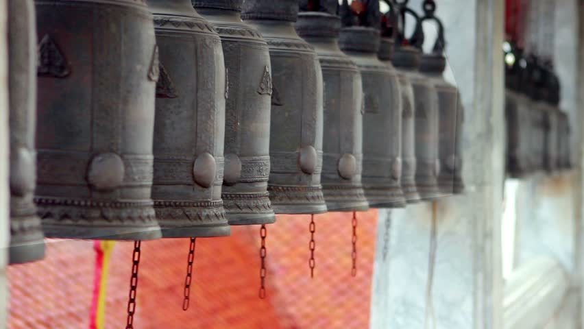 Buddhist Temple Bells in bangkok thailand
