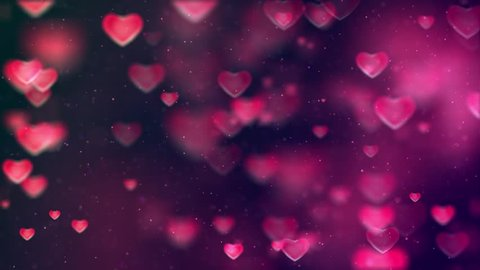 Animated HD motion background video loop - Pink and purple (love valentine)