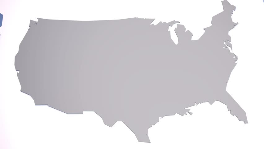 D Map Of The United States In Random Order Stock Footage Video - 3d us map
