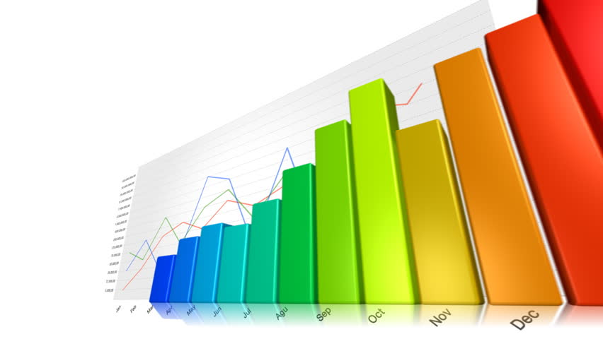 Financial report with animated pie and line chart graphics. Symbolizing business success. | Shutterstock HD Video #19147915