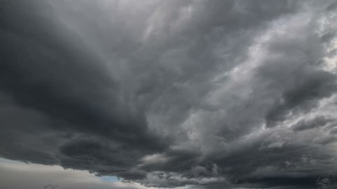 Swirling dark storm clouds time lapse 4k
