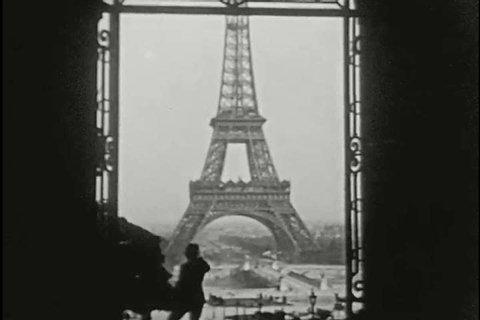 Seeing Paris part four, scenes of Avenue du Bois and the Eiffel Tower. (1910s)