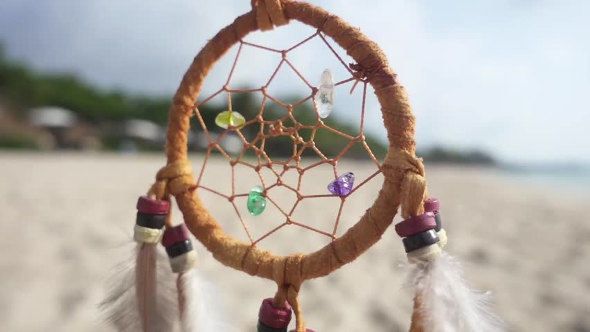 Dream catcher at sunset by the sea stock footage video 17253154 dream catcher swinging at the wind on the beach slow motion hd stock footage voltagebd Images