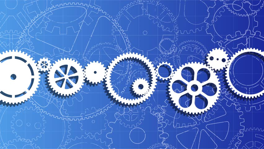 Gear wheels moving on a blueprint background royalty free video gear wheels moving on a blueprint background malvernweather Choice Image
