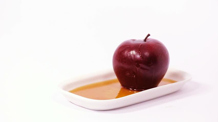 Jewish New Year Apple and Honey Plate
