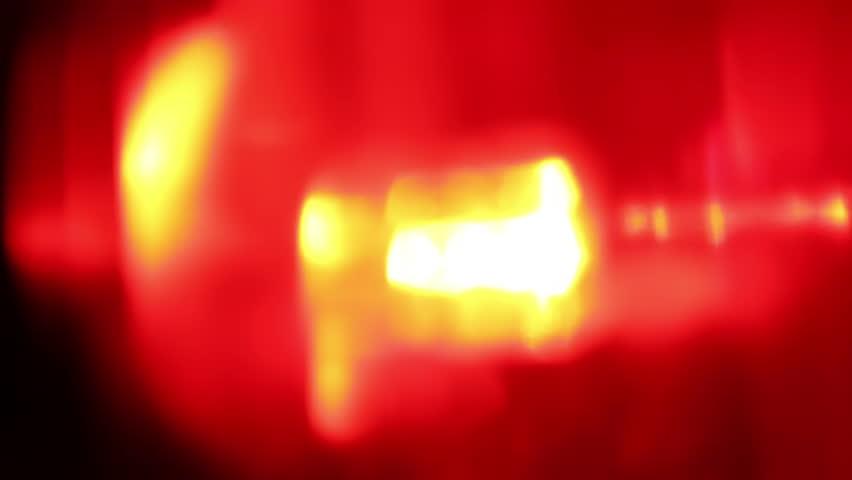 ... Flashing Red LED Light, Extreme Close Up ...