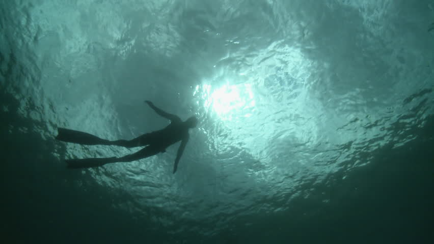 MS POV Divers in Gruner See (Green Lake) / Tragoss, Styria, Austria (Tragoss, Styria, Austria-June, 2013) | Shutterstock HD Video #19372135