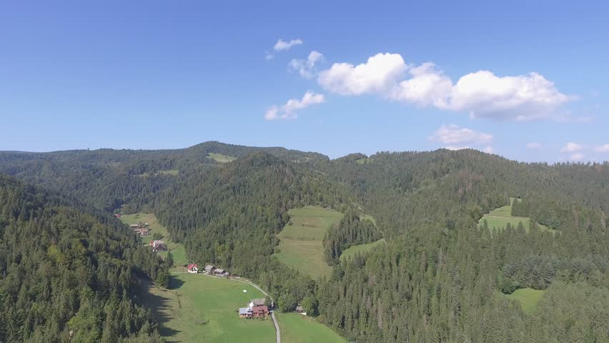 Mountain landcsape at summer time in south of Poland. View from above. | Shutterstock HD Video #19458925