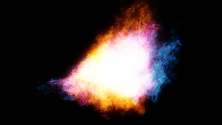 Flame Thrower In Rotation 3D Rendering With Color Effect. Stock ...