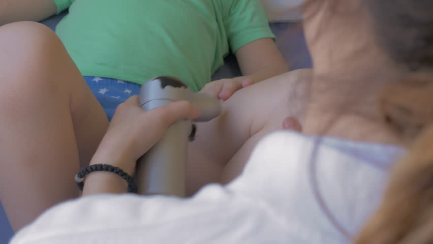 Child Taking Course Of Physiotherapy Therapist Royalty Free Video