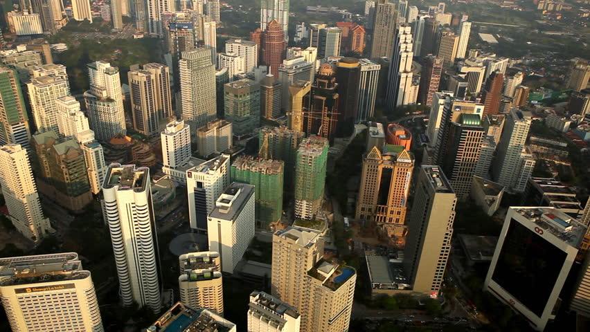 Kuala Lumpur Skyline, Malaysia, Skyscrapers in city center | Shutterstock HD Video #1947721