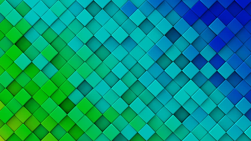 Blue White Gradient Polygonal Surface. Computer Generated