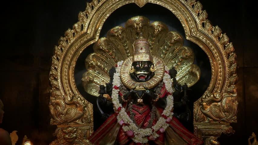 Header of Hindu deity