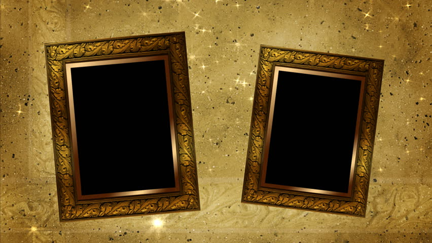 two wood frames and stars hd stock video clip