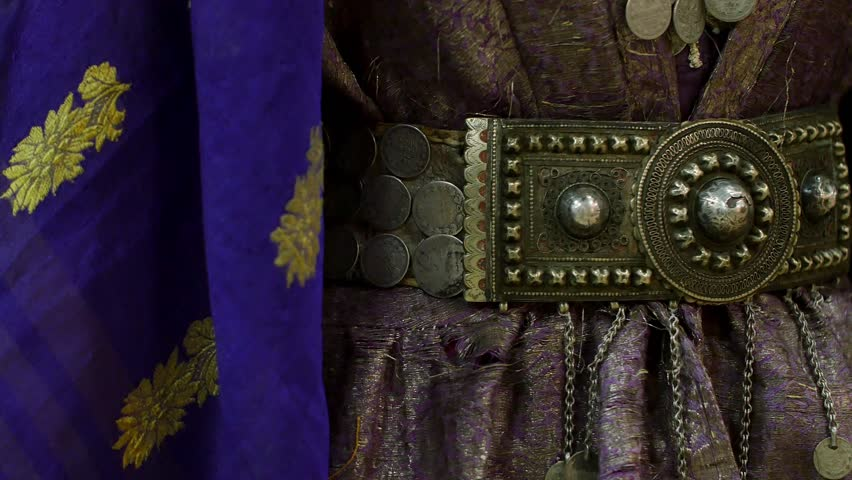 Wedding silver belt caucasian woman a century ago / wedding decorations / ethnics