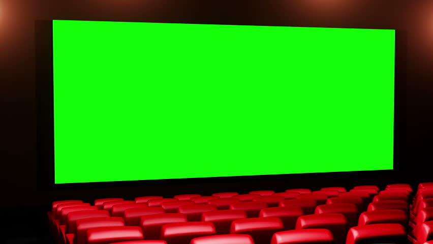 Cinema 3D render seamless loop - Version 01 Canvas is 2.39 cinema aspect ratio - green screen. In this version seats not getting light effects from the canvas.For more realism see Version 02 and 04 | Shutterstock HD Video #1968535
