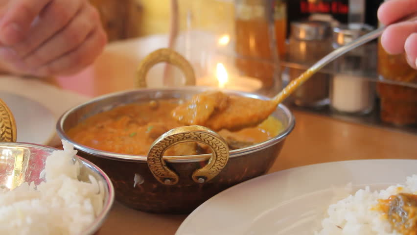Indian masala food in a restaurant