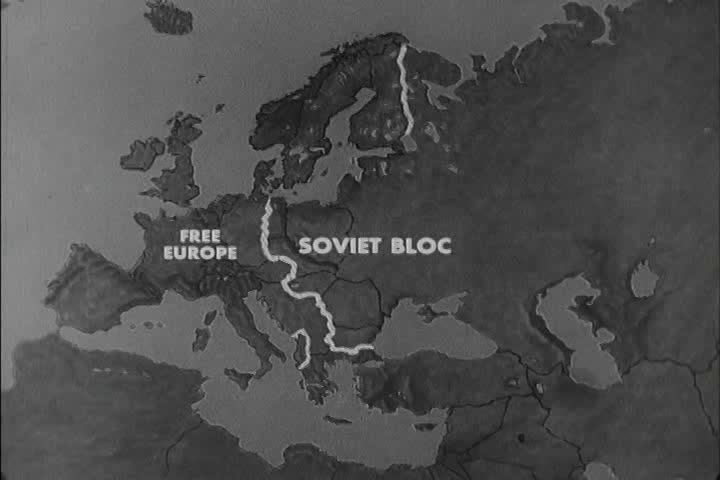 Map Of Europe 1950s.An Animated Map Shows Countries Stock Footage Video 100 Royalty