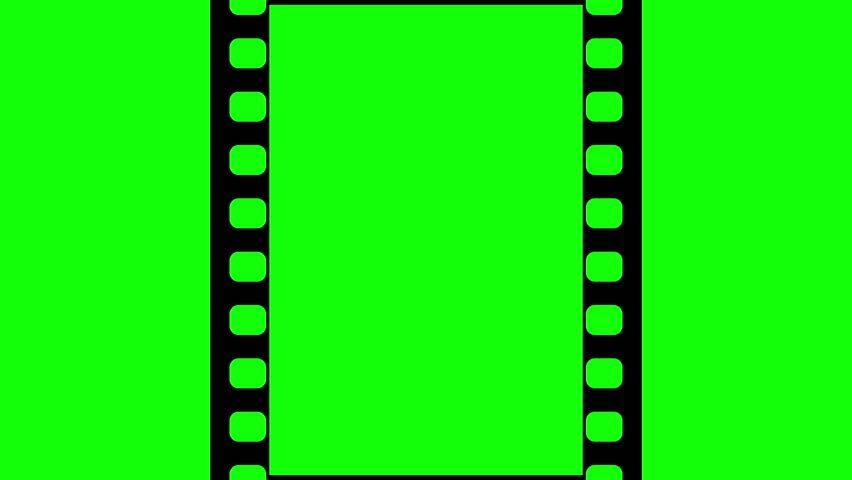Film strip moveing on green background seamless loopable for Green screen backgrounds free templates
