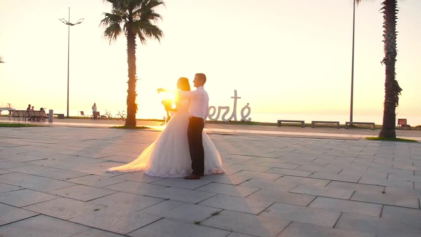 Bride and groom in Batumi liberte | Shutterstock HD Video #19782505