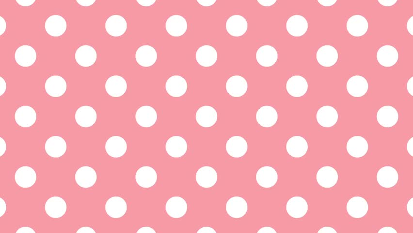 White Polka Dots On A Blue Background Wavy Stock Footage