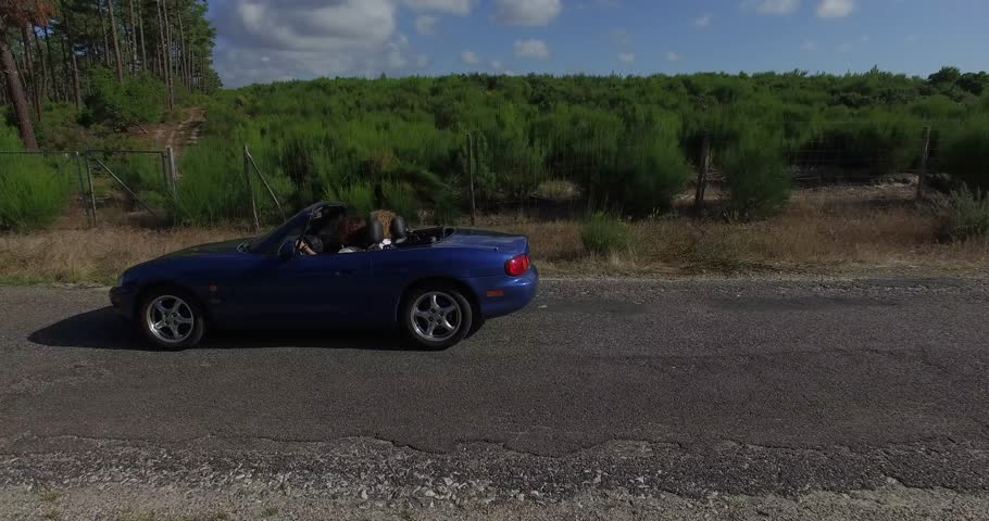 Convertible car or blue cabriolet | Shutterstock HD Video #19849045
