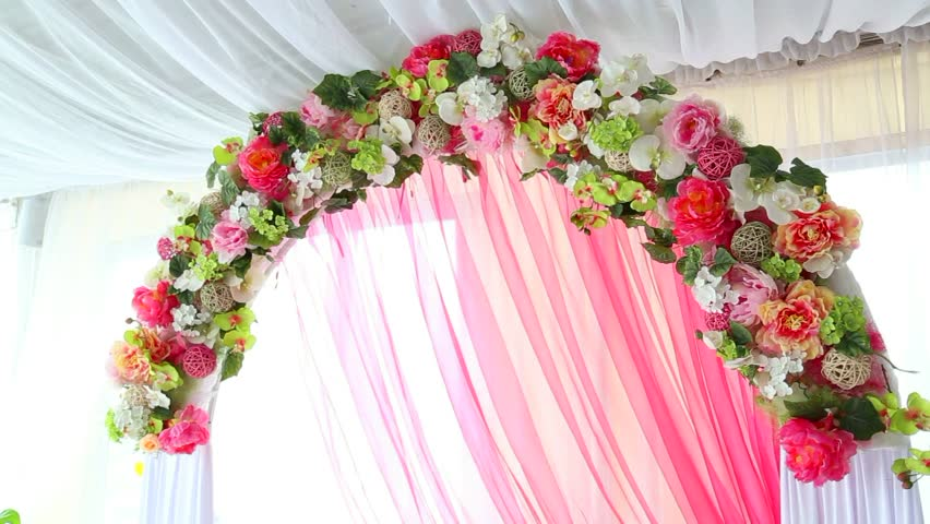 Wedding decorations made of flowers stock footage video 2620055 close up of details of floral decor of festive arch made by synthetic flowers and white junglespirit Gallery
