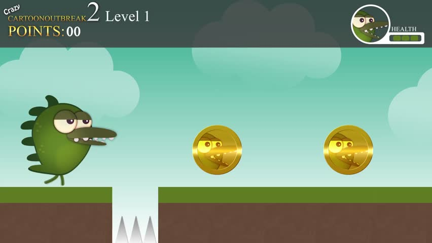 A generic gameplay for a children's video game