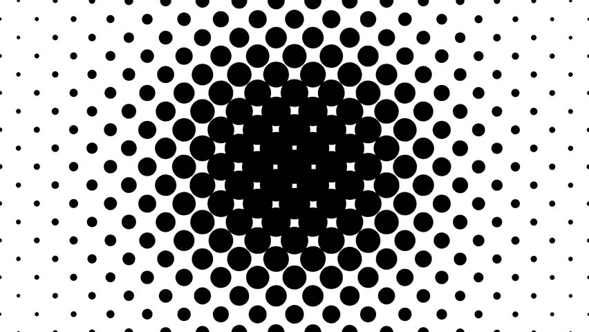 Dynamic black and white composition. Halftone element. 4K. #19887973