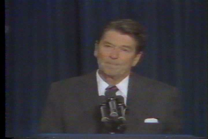 President Ronald Wilson Reagan mentions the IRS, ATF, FBI and the DEA during a speech on crime in the 1980s. (1980s)